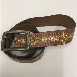 Guess brown and gold belt